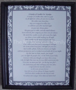 spray painted the frame black and simply placed the poem inside.