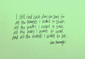 John Burroughs Quote