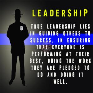 police leadership poster