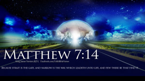 Related For Bible Verses Road To Heaven Matthew 7:14 HD Wallpaper