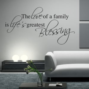 Family Blessing Wall Sticker - Wall Quotes
