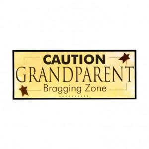 ... Grandparent Gift Co. 4231 Caution Bragging Zone Decorative Wall Plaque