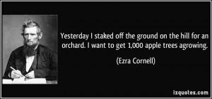 More Ezra Cornell Quotes