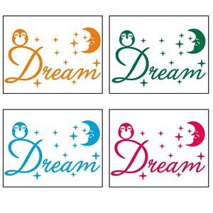 ... -Vinyl-Owls-Moon-Stars-Dream-Wall-Quotes-Decal-For-Teen-Girls-Room