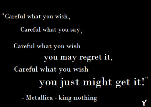 metallica quotes from songs