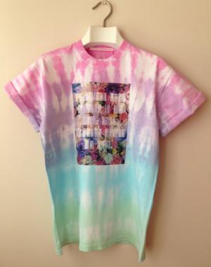 Hippie Quote TIE DYE 90's Loose Tee. Pastel Grunge/ Slogan T Shirt ...