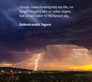 Inspirational Sayings: Clouds Add Color
