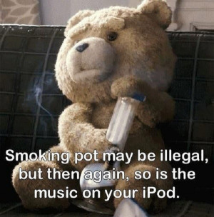 Oh, Ted. Such a naughty bear.