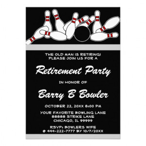 Bowling party invitation quotes
