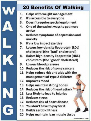 Benefits of Walking-Blood Pressure-Cholesterol-Depression-Exercise