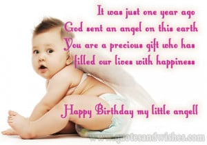 first 1st happy birthday card First Birthday Greeting Cards wishes and ...