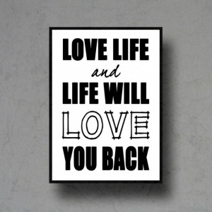 Black and white inspirational life quotes live love life typographic ...