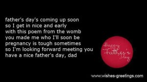 Father's Day Poem From Unborn Baby