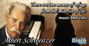 There are two means of refuge from the miseries of life: music and ...
