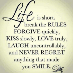 Cherish the smiles you have had & those you have provided to others.