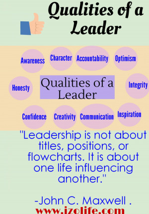 Qualities of a Leader Infographic