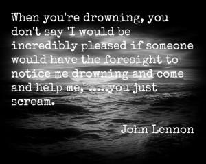 Drowning....John Lennon