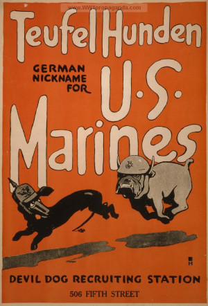... for U.S. Marines Devil dog recruiting station, 506 Fifth Street