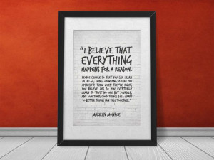 Inspirational Quote Wall Decor, Marylin Monroe Quote Print ...