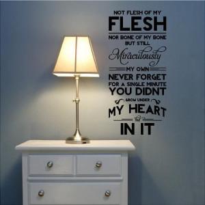 ... Not Flesh of My Flesh Adoption Quote by VinylLettering on Etsy, $11.99