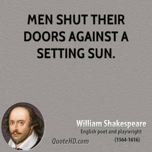 Men Shut Their Doors Against Setting Sun