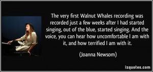 The very first Walnut Whales recording was recorded just a few weeks ...