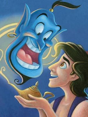 Walt Disney Aladdin and the Genie - The Magic Lamp