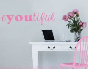 ... Quote Vinyl Wall Decal Sticker Words Girl Teenager Craft Room