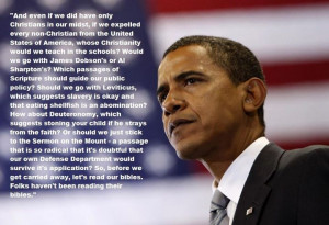 "... Reading Their Bibles"" – Barack Obama on Religion and Public Policy"