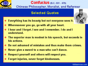 great Chinese sage whose system of political and social life has ...