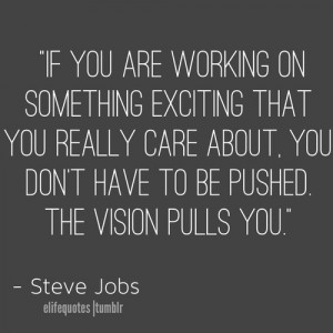 Vision Quotes -Steve Jobs