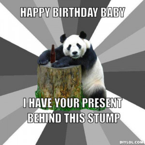 Happy birthday panda meme - photo#10