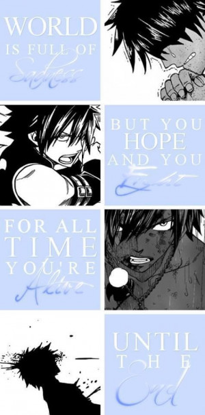 Gray Fullbuster I remember this part.... For a moment I seriously ...