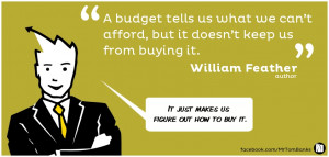 budget tells us what we can't afford, but it doesn't keep us ...