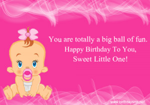 7 Little Girl Birthday Quotes Quotesgram Happy Birthday Wishes For Baby