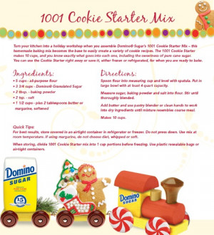 christmas sugar cookie recipe card