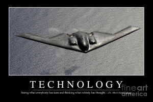 Technology Inspirational Quote Photograph