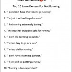 Top 10 Running Quotes For 2013 Top 10 Lame Excuses For Not Running ...