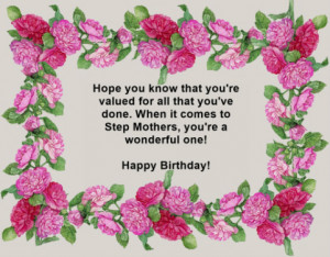 Happy Birthday Stepmom Quotes. QuotesGram
