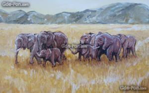Wallpaper Art Elephants...