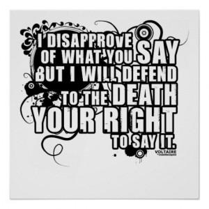 Voltaire Quotes Free Speech
