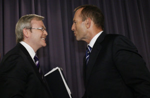 ... in this photo kevin rudd tony abbott australian prime minister kevin