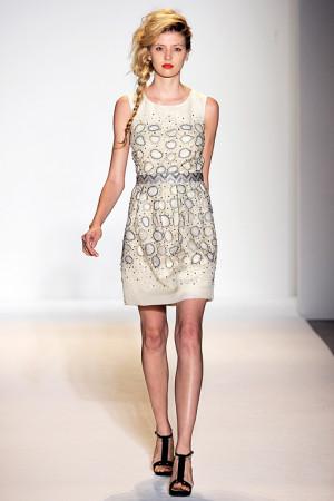 Lela Rose Lace Bustier Dress