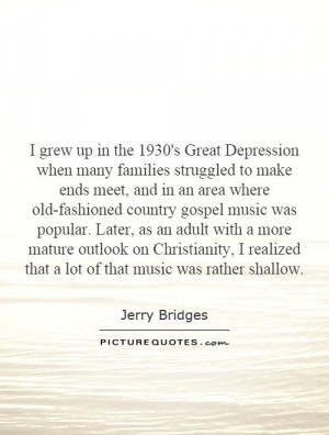 Great Depression Music Quotes