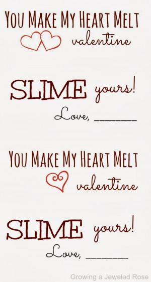 You Make My Heart Melt Melting heart slime also makes