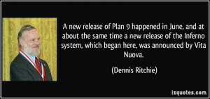 new release of Plan 9 happened in June, and at about the same time a ...