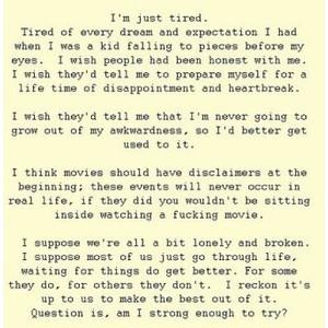 Sick Sad World.