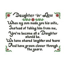 Quotes For Daughter In Law image search results