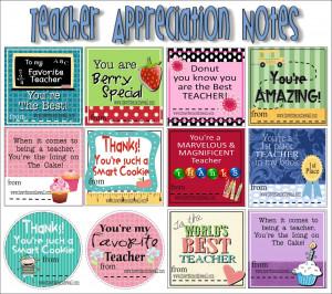 Freebies)More Teacher Appreciation Gift Ideas
