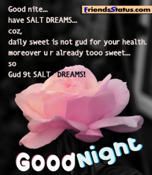 good night messages for facebook friends Good night salt dreams